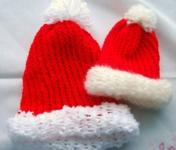 Loom Knitted Santa Hats