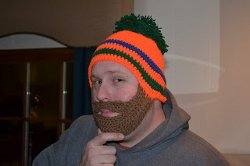 Make this totally cool Das Beard Hat for the next outdoor game you and your  guy go to  it s a great crochet hat pattern for wintertime. e7958575e5c