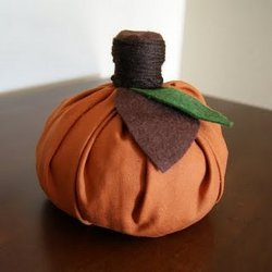 Quick No-Sew Fabric Pumpkins