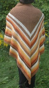 Autumn Triangle Shawl