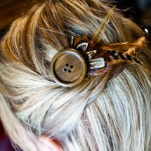Bohemian Chic Feather Hair Pin
