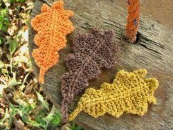 Garter Stitch Oak Leaves
