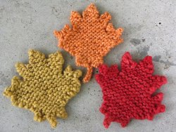 Knit Maple Leaves