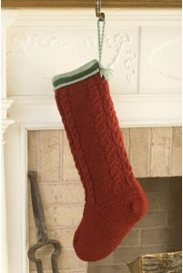 Thick Cables Knit Stocking