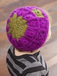 Knit and Crochet Baby Granny Hat