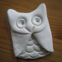Simple Adorable Clay Owl Pendant