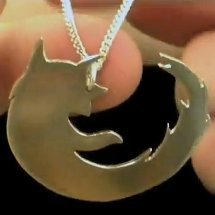 Metal Firefox Necklace