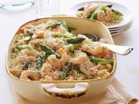 Shrimp Scampi with Asparagus Casserole