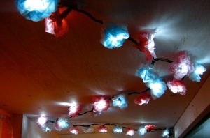 Tissue Pom Lights