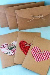 Charming Kraft Paper Holiday Cards