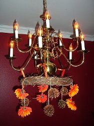 Nature Chic Pinecone Chandelier