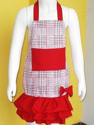 Ruffled Apron for Girls