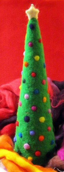 Needle Felted Christmas Tree