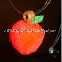 Pom Pom Apple Necklace