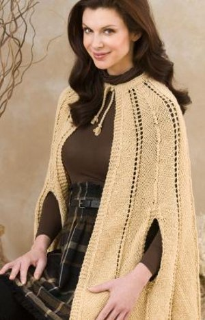 Fashionable Knitted Cape