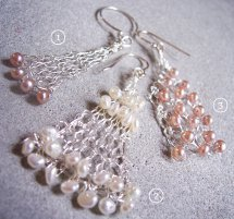 Knitted Wire Dangle Earrings 3 Ways