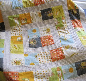 Storytime Squares Baby Quilt