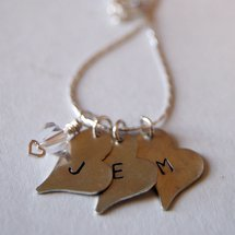 Stamped Heart Initial Necklace
