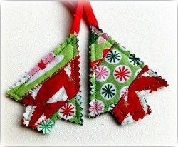 Scrappy Christmas Tree Ornaments