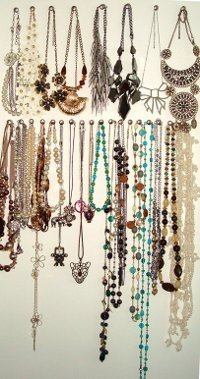An Organized Mess Necklace Wall