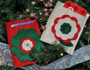 Felt Flower Gift Card Holder