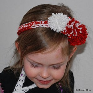 Peppermint Pom Pom Headband