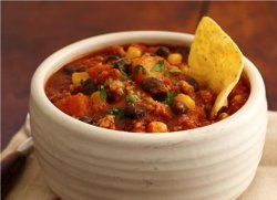 Tex Mex Chili with Black Beans, Corn and Butternut Squash