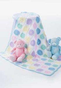 Pastel Roses Baby Blanket