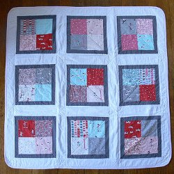 Charming Four Patch Baby Quilt