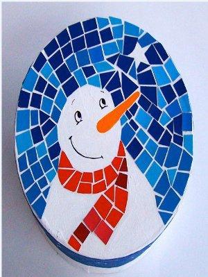 Snowy Night Mosaic FaveCraftscom