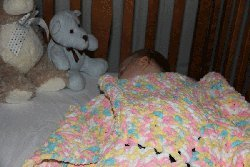 Candy-ghan Baby's First Afghan