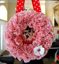 Frilly Cupcake Liner Valentines Wreath