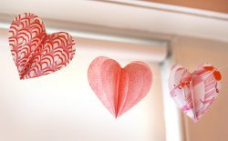 Hearts Aflutter Fabric Garland