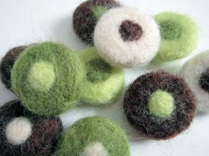 Spot On Needle Felted Beads
