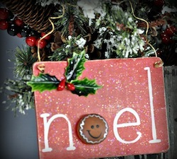Gingerbread Noel Sign