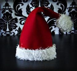 Fleece Santa Hat Tutorial