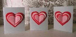 Layered Hearts Sewn Valentines