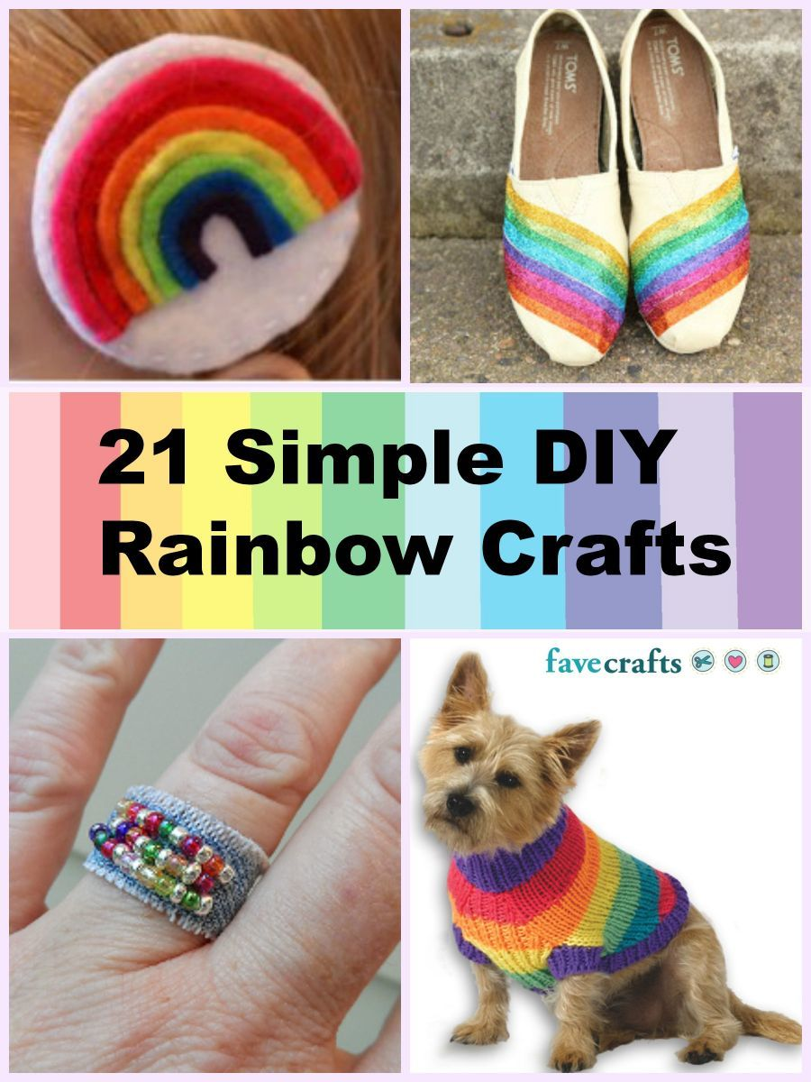 crafts rainbow simple diy springtime favecrafts christmas spring table