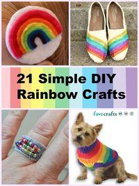 21 Simple DIY Rainbow Crafts