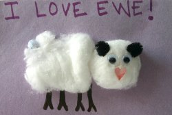 Love Ewe Sheep Valentines