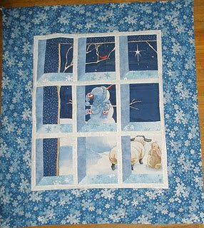 Snowman Attic Window Quilt Pattern