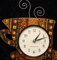 Fabric Coffee Cup Clock