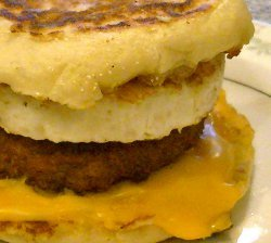 Homemade Sausage Egg McMuffin
