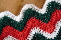 16 Red and Green Christmas Crochet Afghans