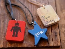 Personalized Wooden Pendant Necklaces