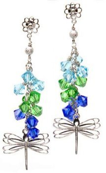 Dangling Dragonfly Earrings