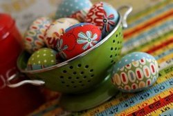 Retro Fabric Easter Eggs