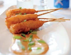 Wild Gulf Shrimp Corn Dogs with Tabasco