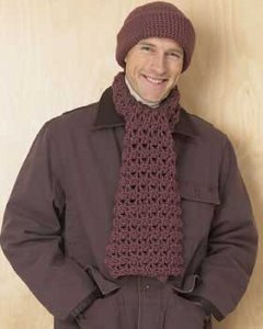 Men's Chunky Hat and Scarf Set