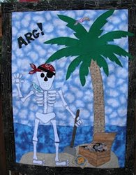 Mr. Bones Skeleton Pirate Quilt